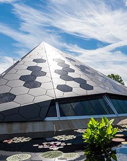solar panel building