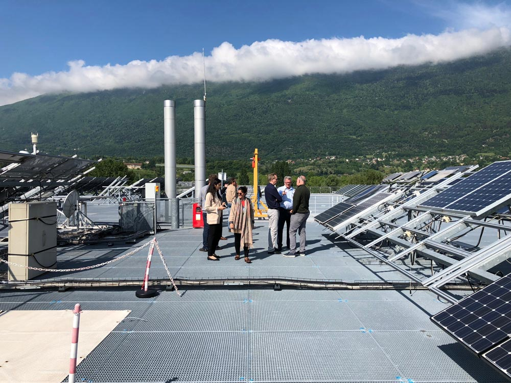 Solar Sharc® take tour of the CEA INES solar R & D facility in Chambery, France